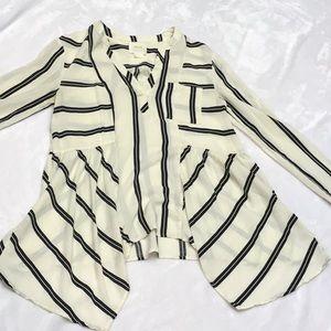 Maeve Striped Top. Sz. 0